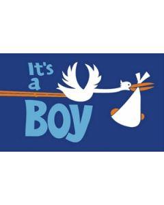 Its a Boy Satin Flag (15x22cm)