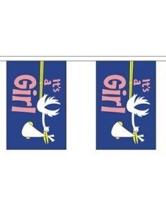 Its a Girl Guirlander 3m (10 flag)