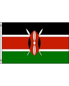 Kenya Satin Flag (15x22cm)