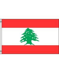 Libanon Satin Flag (15x22cm)