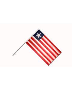 Liberia Håndflag (15x22cm)