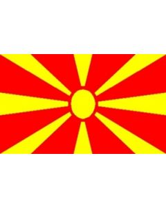 Makedonien Satin Flag (15x22cm)