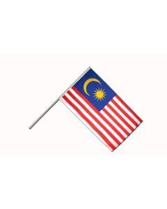 Malaysia Håndflag (15x22cm)