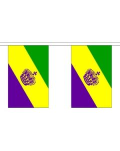 Mardi Gras Guirlander 3m (10 flag)
