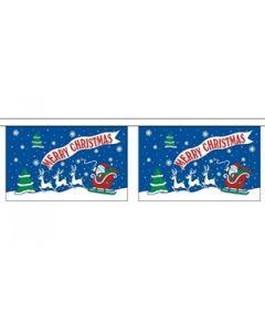 Merry Christmas Blue Guirlander 9m (30 flag)