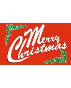 Merry Christmas Red Flag (60x90cm)