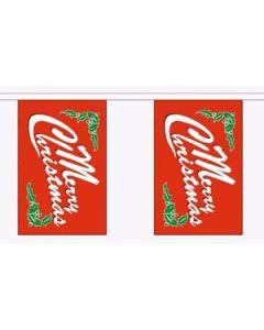 Merry Christmas Red Guirlander 3m (10 flag)
