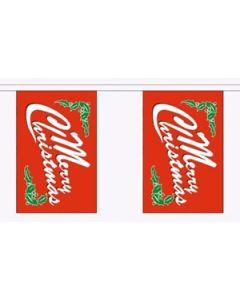 Merry Christmas Red Guirlander 9m (30 flag)