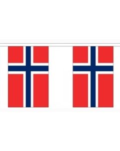 Norge Papir Guirlander 2,8m - 10 flag (A5)