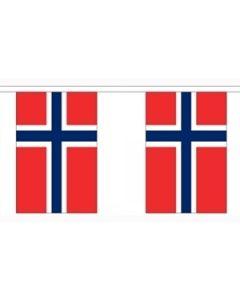 Norge Papir Guirlander 4m - 10 flag (A4)