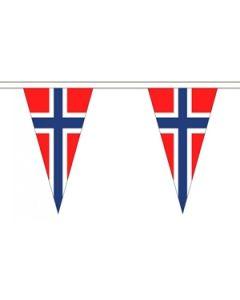 Norge Triangle Guirlander 5m (12 flag)
