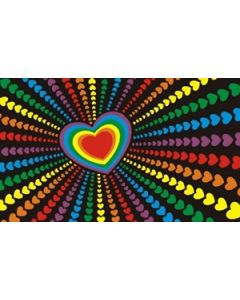 Rainbow Love Flag (60x90cm)
