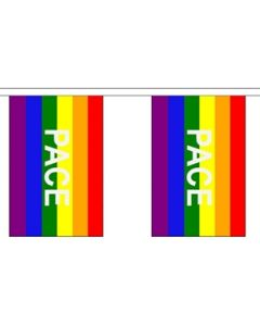 Rainbow Pace Guirlander 3m (10 flag)