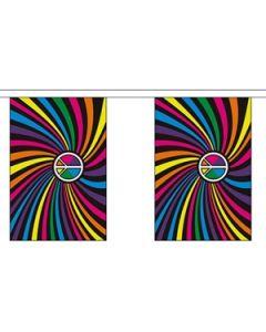 Rainbow Swirl Guirlander 3m (10 flag)