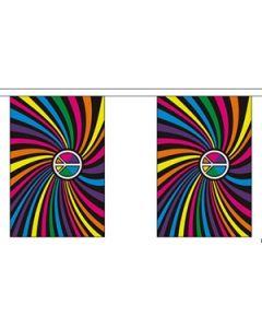 Rainbow Swirl Guirlander 9m (30 flag)