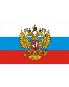 Rusland med Ørn Flag (90x150cm)