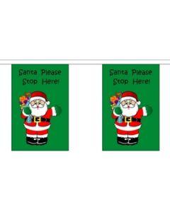 Santa Stop Here Guirlander 3m (10 flag)