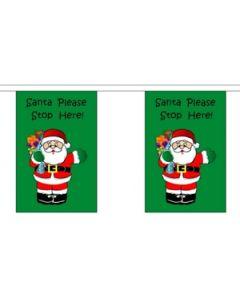 Santa Stop Here Guirlander 9m (30 flag)