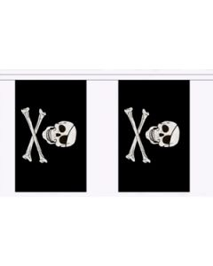 Skull and Crossbones Guirlander 3m (10 flag)