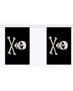 Skull and Crossbones Guirlander 9m (30 flag)