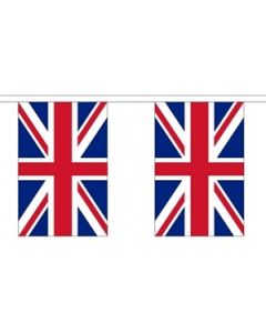 Storbritannien Papir Guirlander 2,8m - 10 flag (A5)