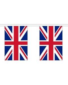 Storbritannien Papir Guirlander 4m - 10 flag (A4)