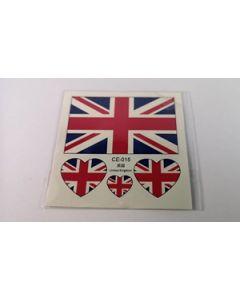 Storbritannien Tattoo (6x6cm)