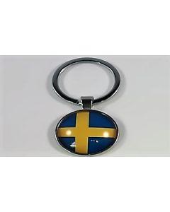 Sverige Nøglering (25x60mm)