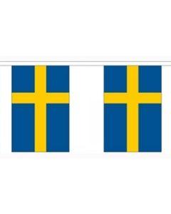Sverige Papir Guirlander 2,8m - 10 flag (A5)