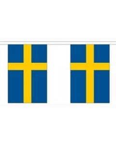 Sverige Papir Guirlander 4m - 10 flag (A4)