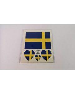 Sverige Tattoo (6x6cm)