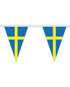 Sverige Triangle Guirlander 5m (12 flag)