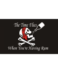 Time Flies When You Have Rum Flag (60x90cm)