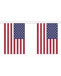 USA Papir Guirlander 4m - 10 flag (A4)