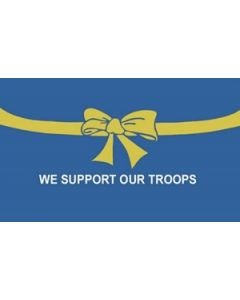 We Support Our Troops (blue) Flag (60x90cm)