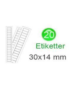 Belgien Klistermærker (14x30mm)