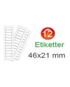 Dannebrog Klistermærker (21x46mm)