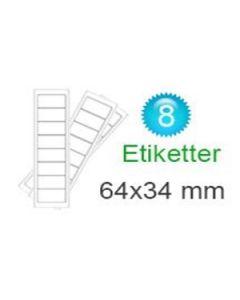 Comorerne Klistermærker (34x64mm)