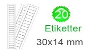 Image of   Cookøerne Klistermærker (14x30mm)
