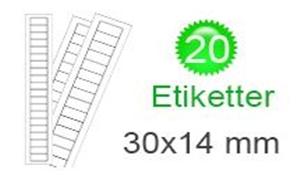 Image of   Eritrea Klistermærker (14x30mm)
