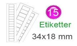 Image of   Estland Klistermærker (18x34mm)