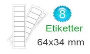 Image of   Estland Klistermærker (34x64mm)