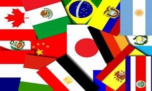 Billede af Colombia Strøflag (30x48mm)